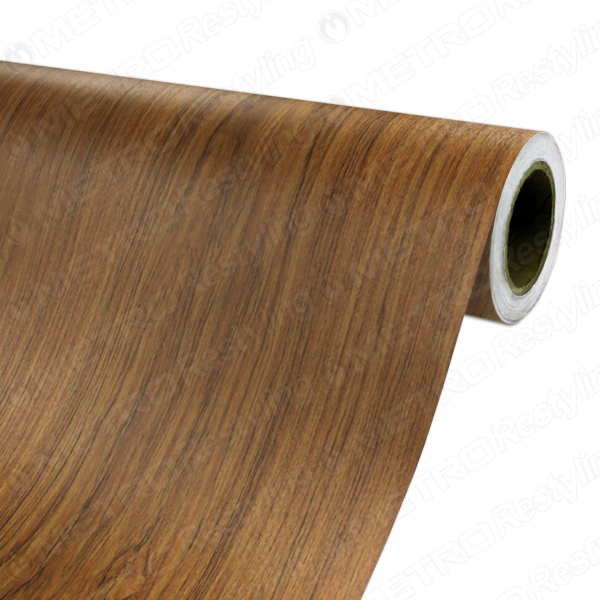 15 x 3ft 3m dinoc cherry teak wood grain vinyl wrap film. Black Bedroom Furniture Sets. Home Design Ideas